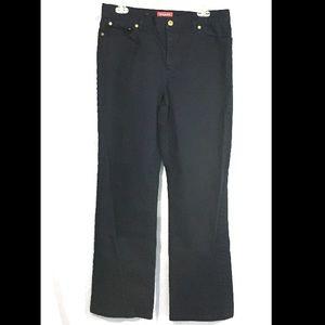 Chaps Straight Leg Dark Wash Size 10 Elastane